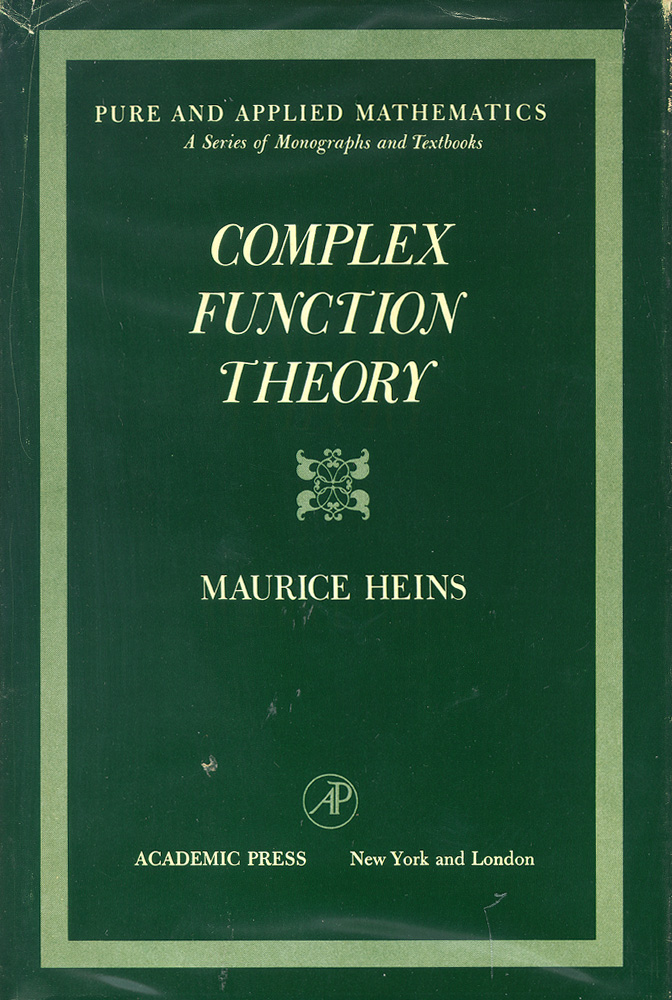 Complex Function Theory. Maurice Heins.