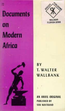 Documents of Modern Africa. T. Walter Wallbank.
